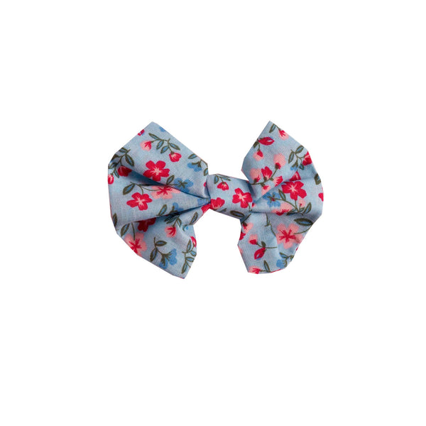 Blue Floral Hairbow