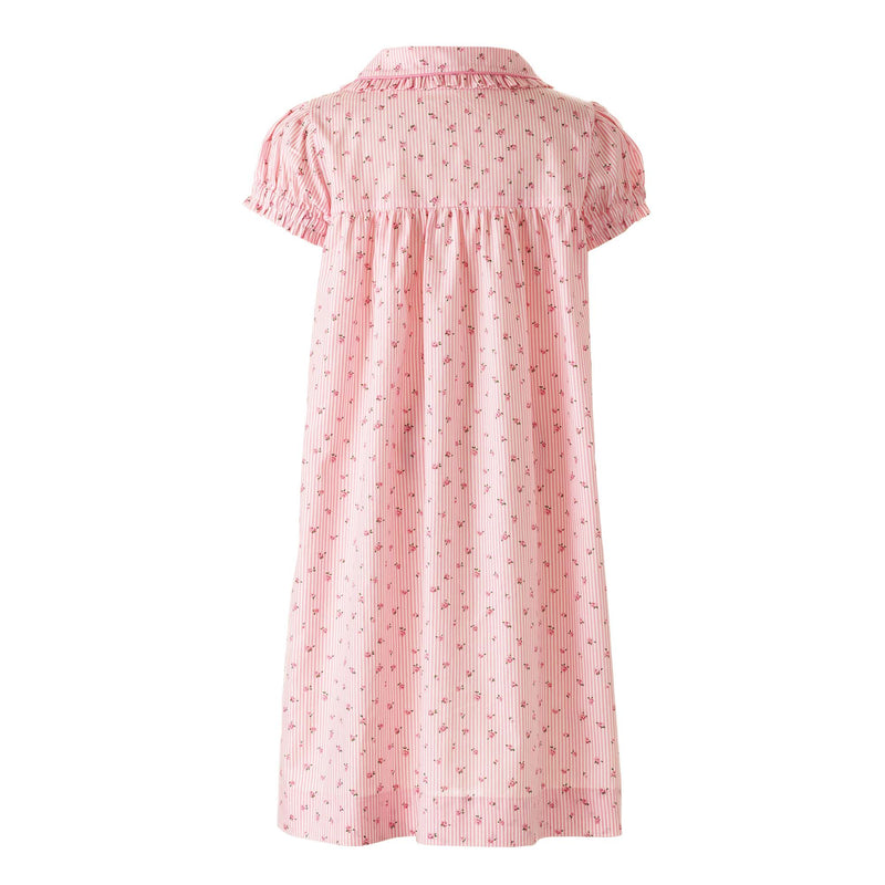 Rosebud Striped Nightdress