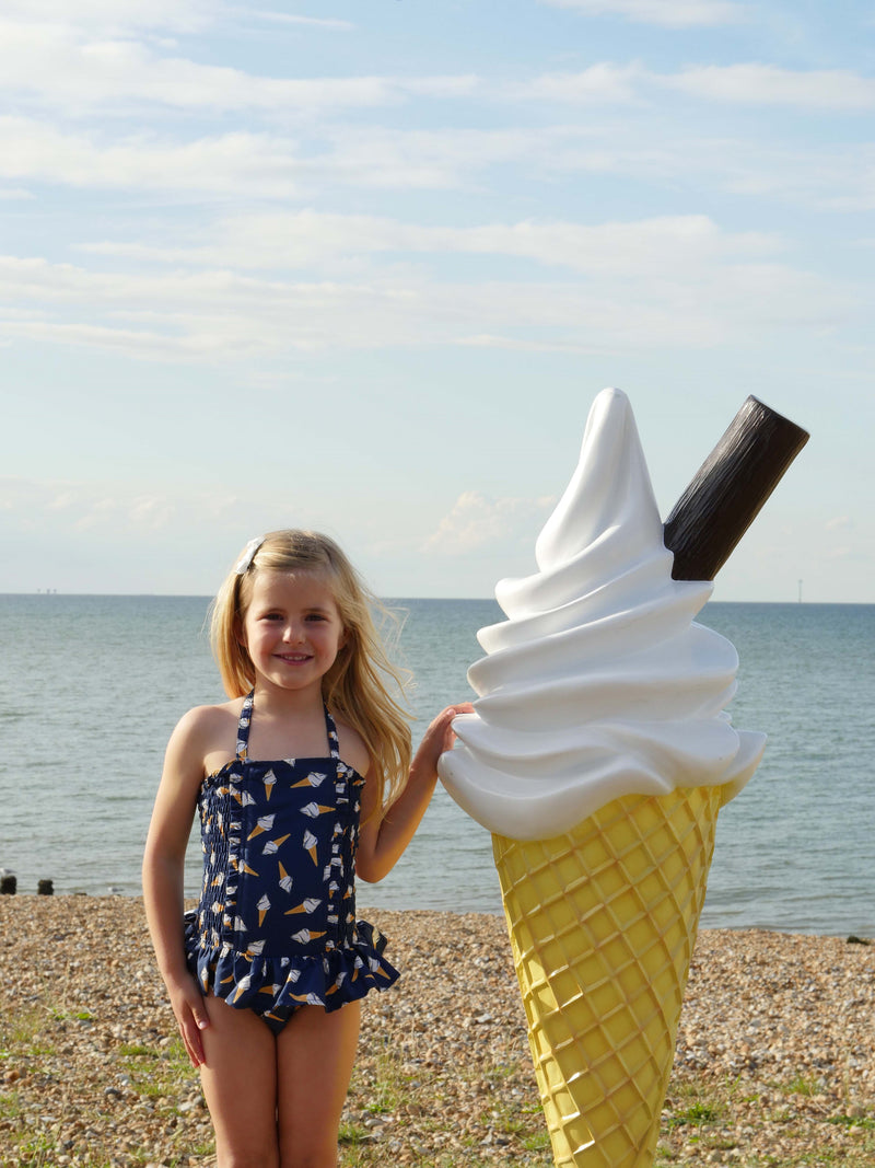 Ice Cream Ruched Swimsuit