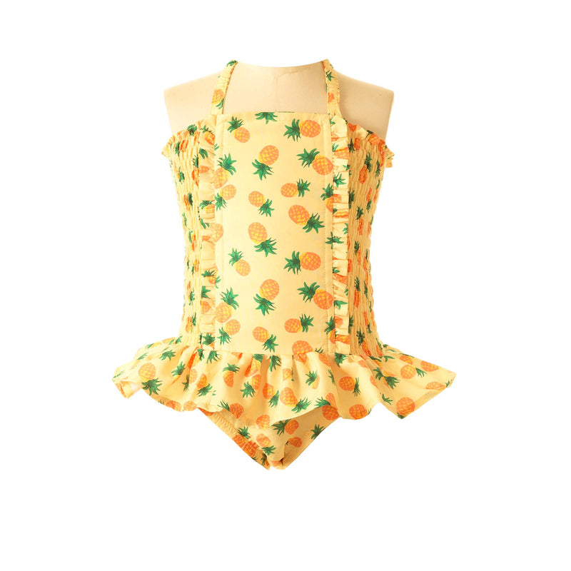 Pineapple Ruched Swimsuit