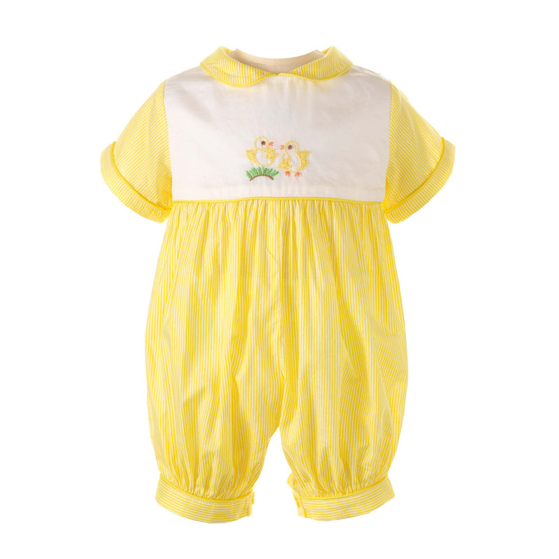 Chick Embroidered Babysuit