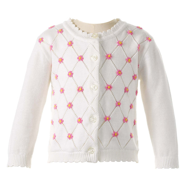 Daisy Lattice Cardigan