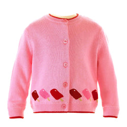 ice lolly intarsia cardigan, ice lolly, Rachel Riley cardigan, casual, baby girl, baby girl cardigan
