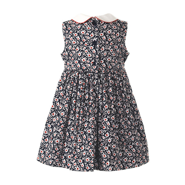 Vintage Floral Smocked Dress & Bloomers