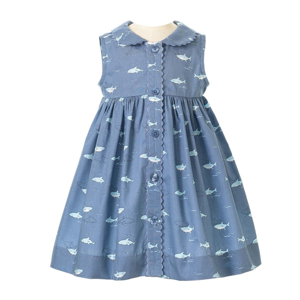 Shark Button Front Dress & Bloomers