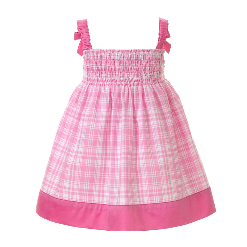Checked Smocked Sundress & Bloomers
