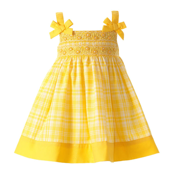 Checked Smocked Dress & Bloomers