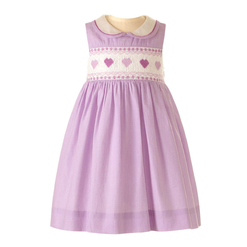♥ Heart Striped Smocked Dress & Bloomers