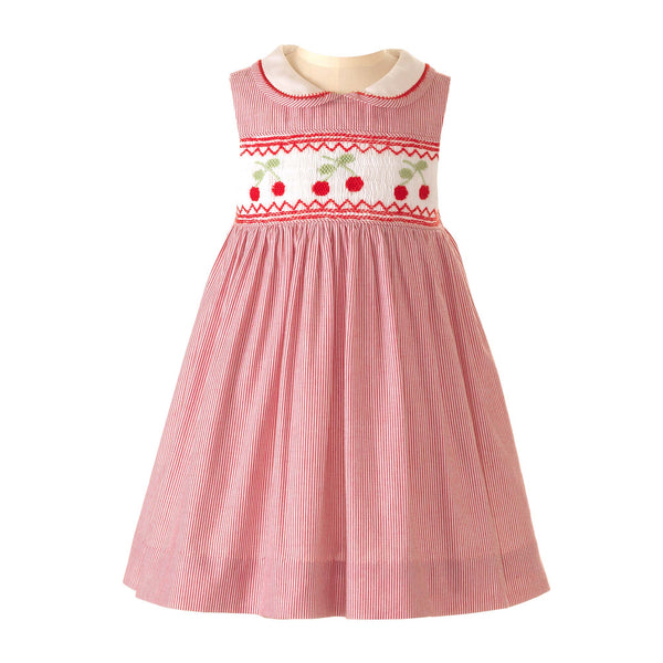 Cherry Smocked Dress & Bloomers