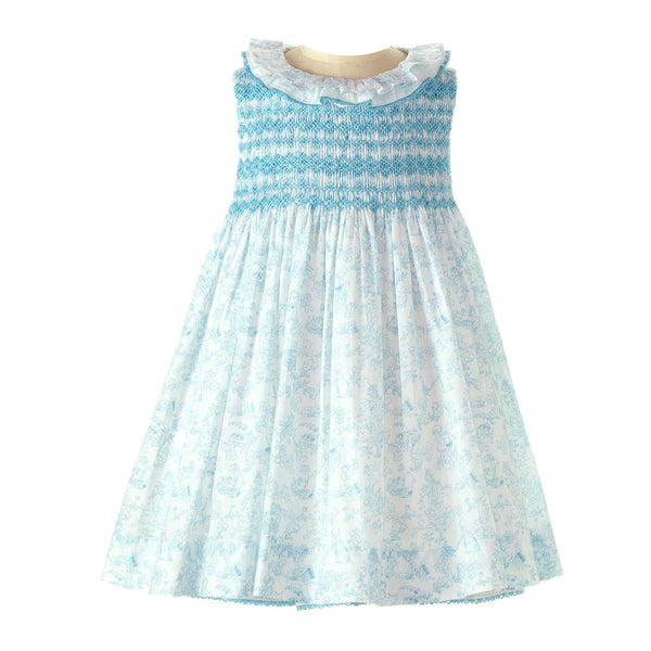 Pastel Lace Trim Smocked Dress & Bloomers