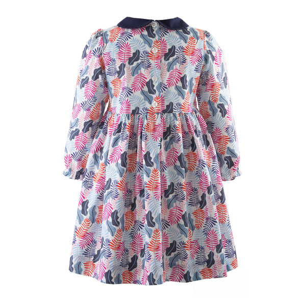 Winter Print Peter Pan Collar Dress