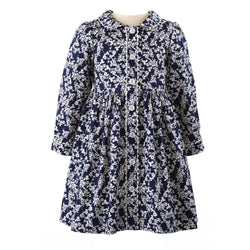 Midnight Floral Button-front Dress