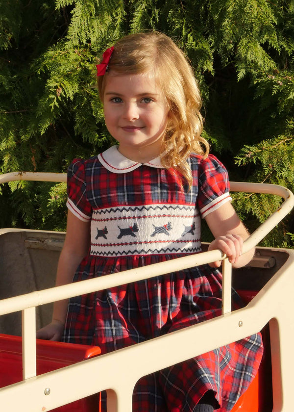 Scottie Dog Smocked Dress