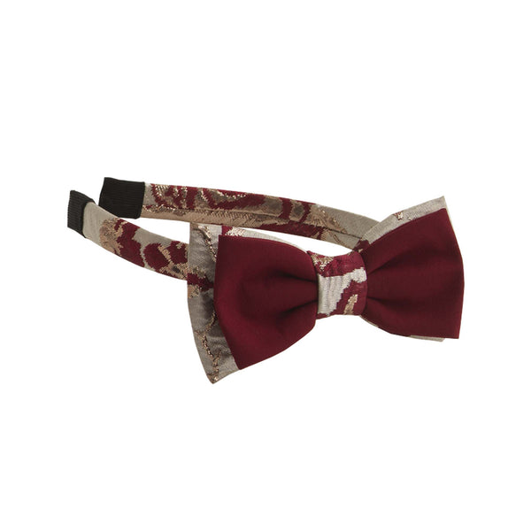 Ruby Rose Damask Bow Hairband