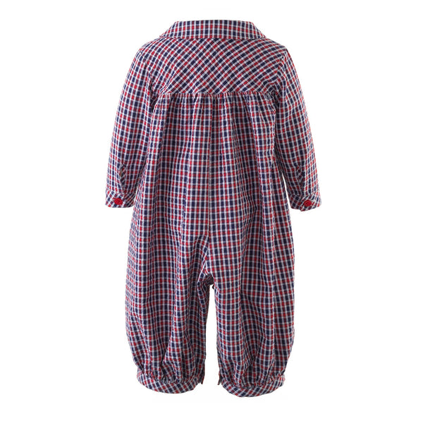 Checked Seersucker Babysuit
