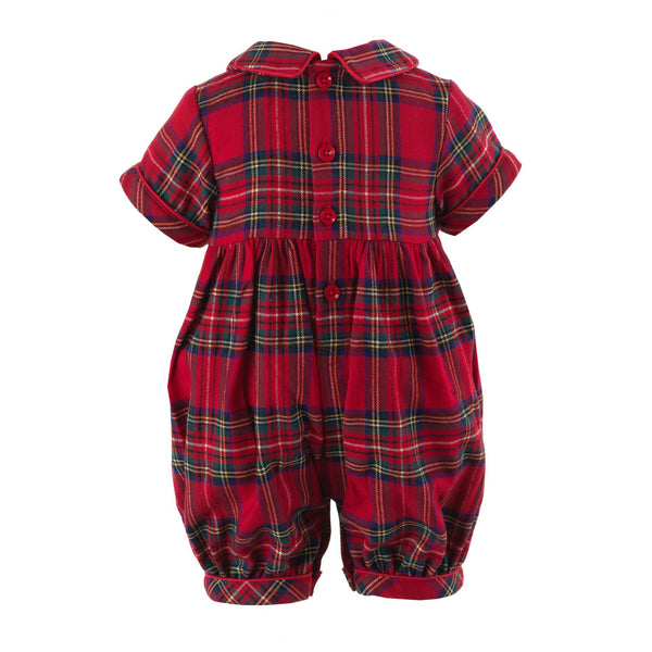 Christmas Tree Smocked Babysuit