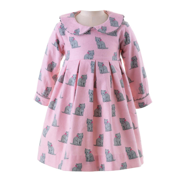 Kitten Flannel Dress & Bloomers