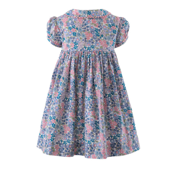 Winter Floral Button-front Dress & Bloomers