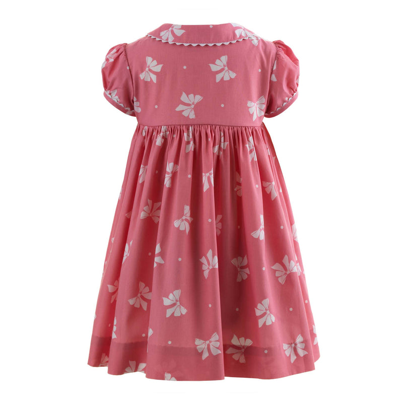 Bow Button-front Dress & Bloomers