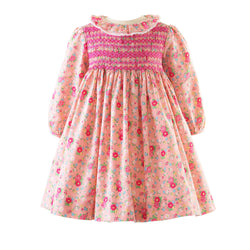 Rose Smocked Frill Dress & Bloomers
