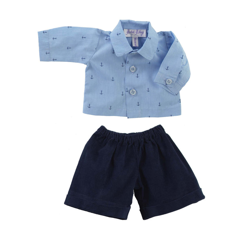 Teddy Nautical Shirt & Shorts set
