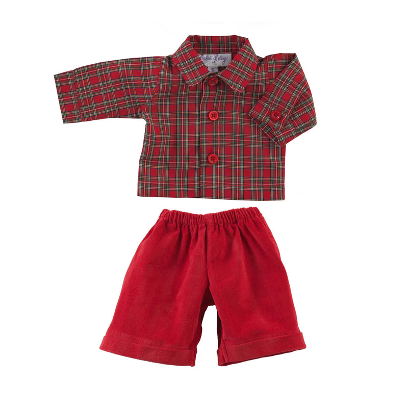 Teddy Tartan Shirt & Trousers set
