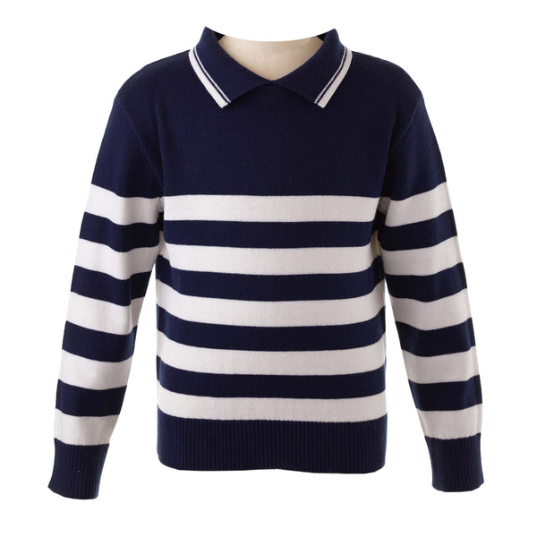 Striped Collared Sweater