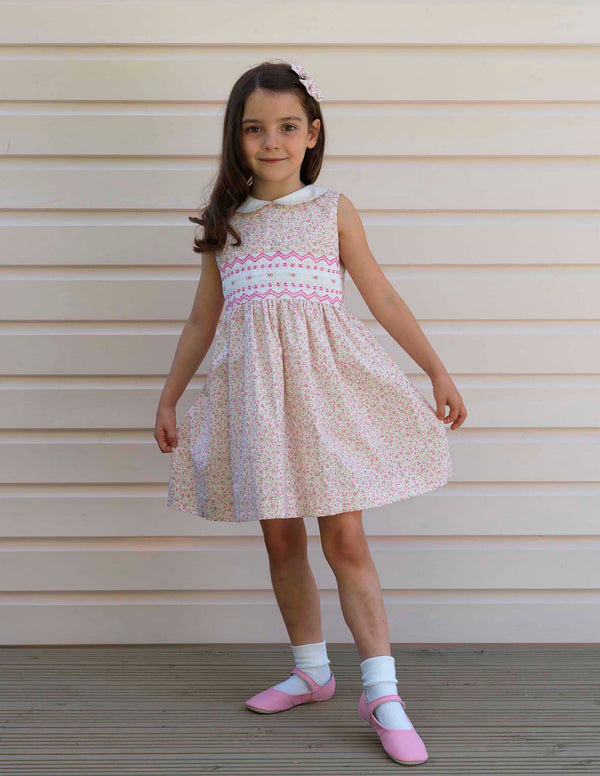 Ditsy Rose Smocked Dress