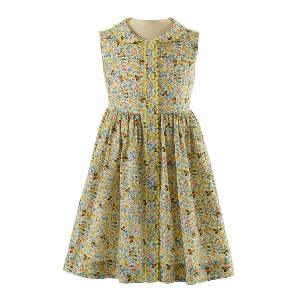 Wild Flower Button-front Dress