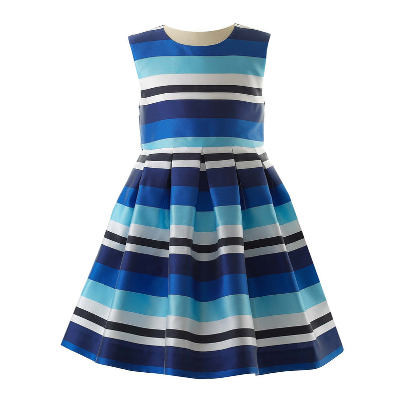 Striped Pleated Party Dress