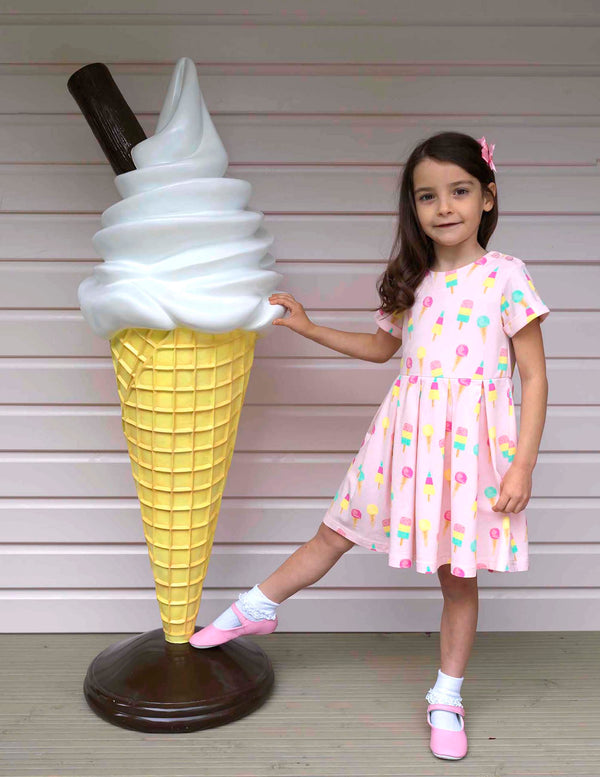 Ice Cream Jersey Dress