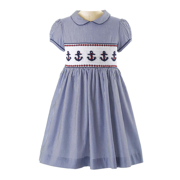 Anchor Smocked Dress