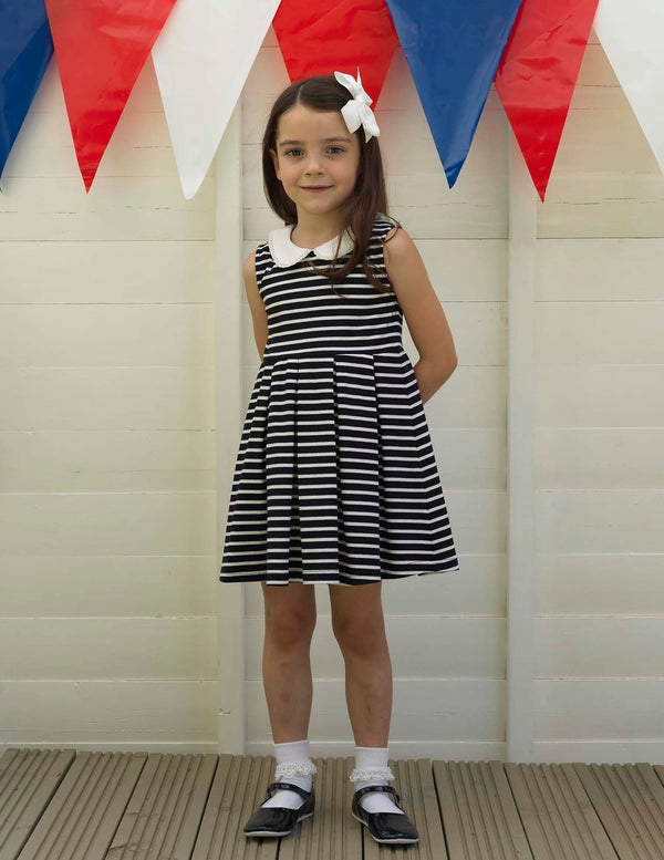 Breton Stripe Jersey Dress