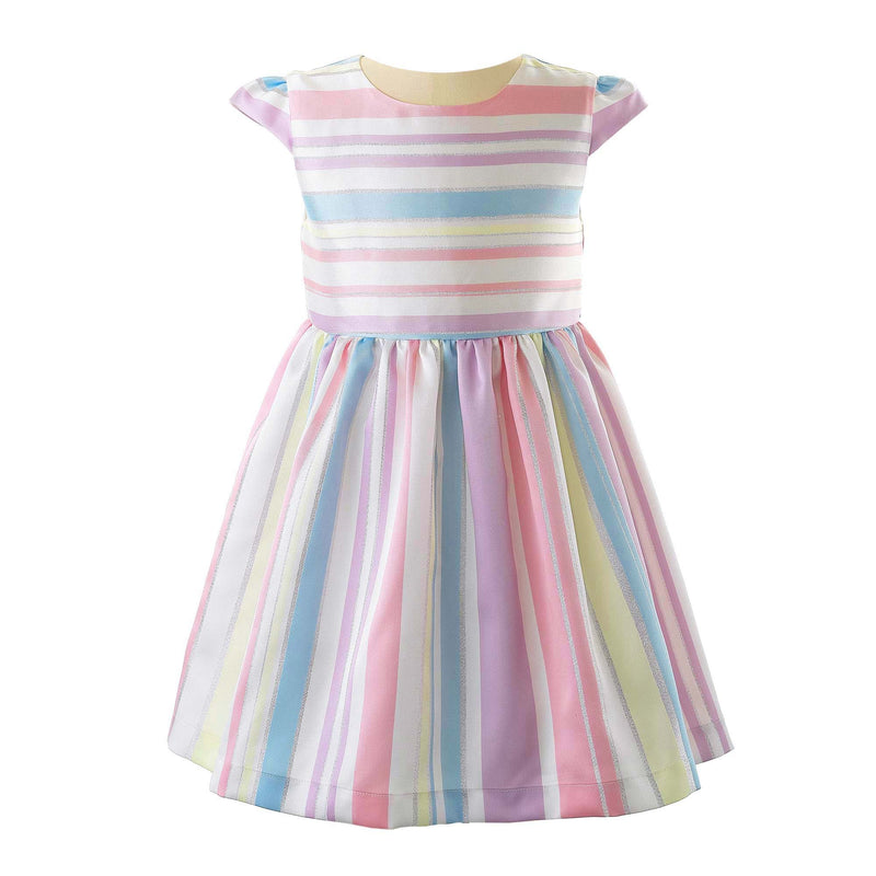 Striped Damask Party Dress