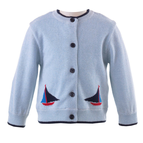 Sailboat Intarsia Cardigan