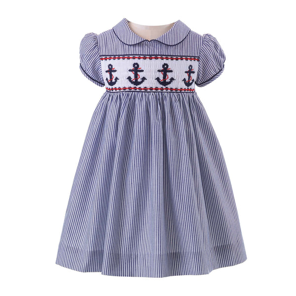 Anchor Smocked Dress & Bloomers