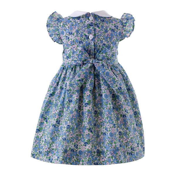 Floral Frill Sleeve Dress & Bloomers