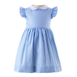 Gingham Frill Sleeve Dress & Bloomers