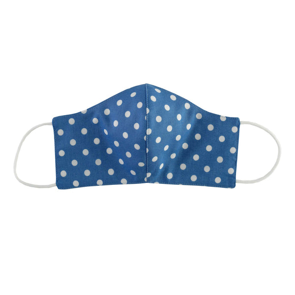 Blue Polka Dot Print Mask, Women