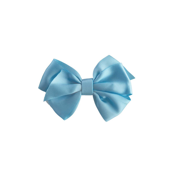 Blue Satin Ribbon Hairbow