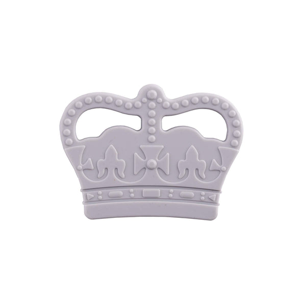 Crown Silicone Teething Toy – Grey