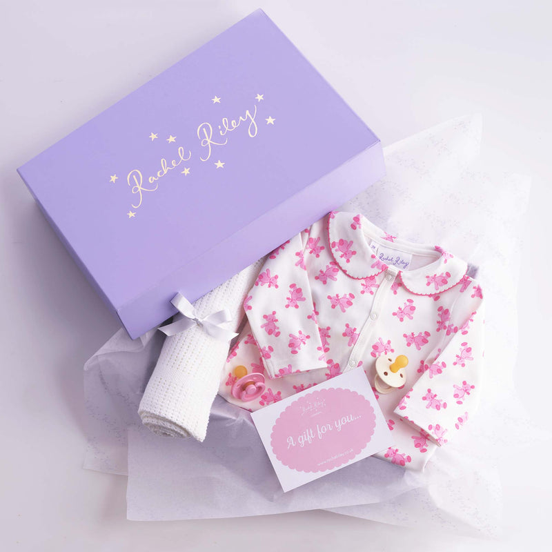 Sweet Teddy Baby Gift Box, Pink