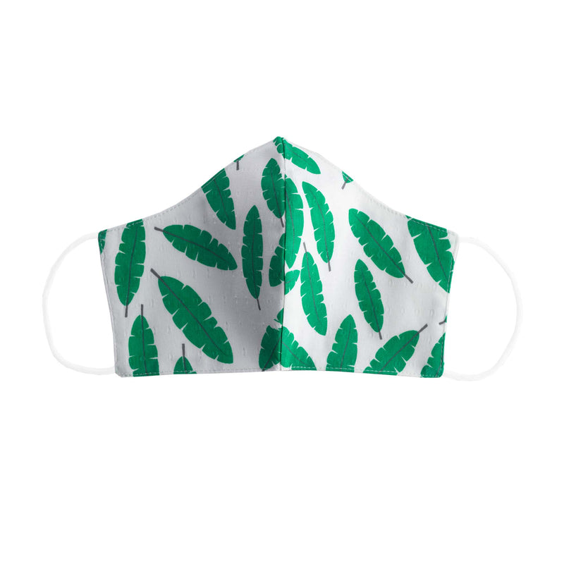 Leaf Print Face Mask, Men's