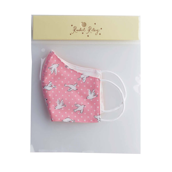 Pink Dove Print Face Mask, Children's