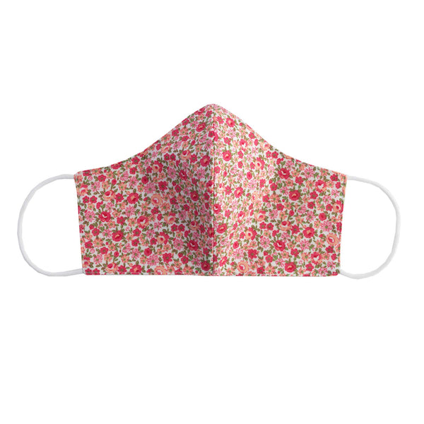 Pink Ditsy Floral Print Face Mask, Women's