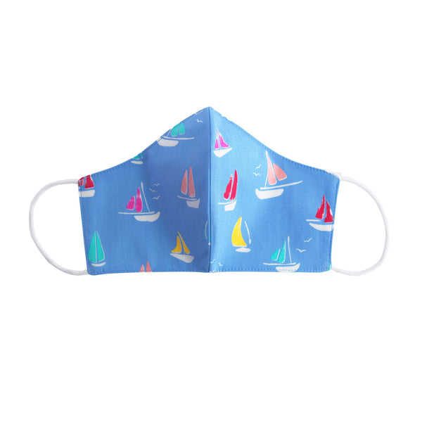 Sailboat Print Face Mask, Women's