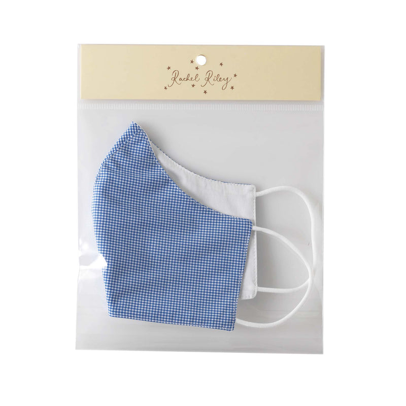 Mini Gingham Face Mask, Men's