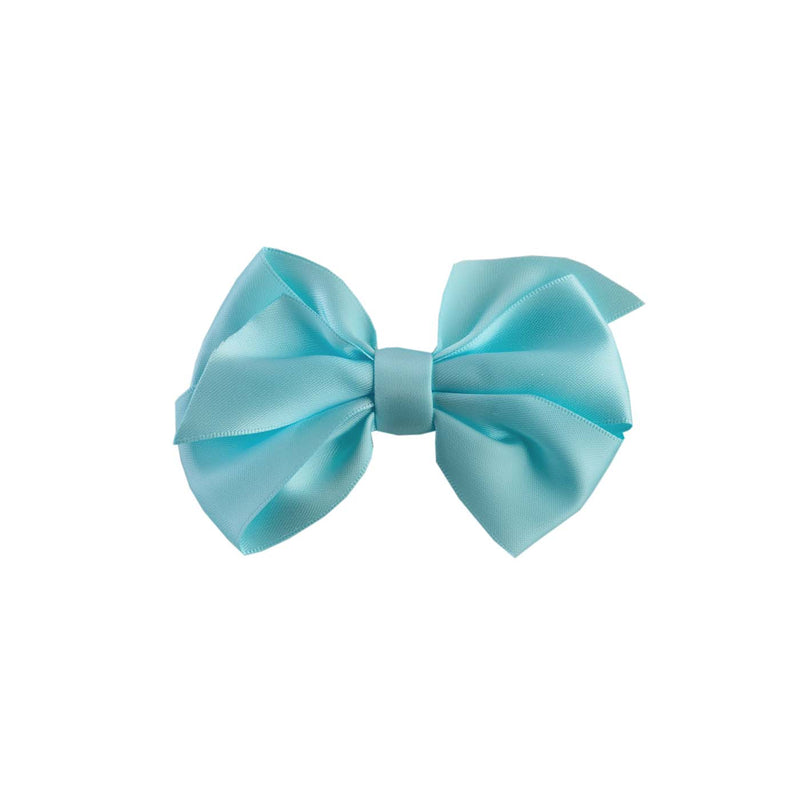 Mint Satin Ribbon Hairbow