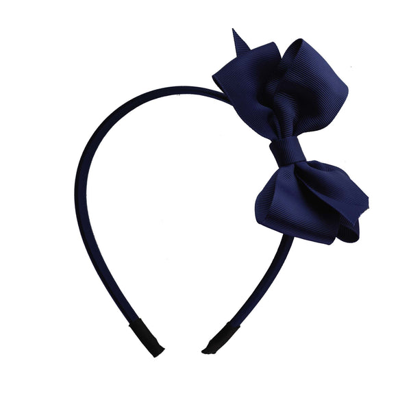 Navy Bow Hairband