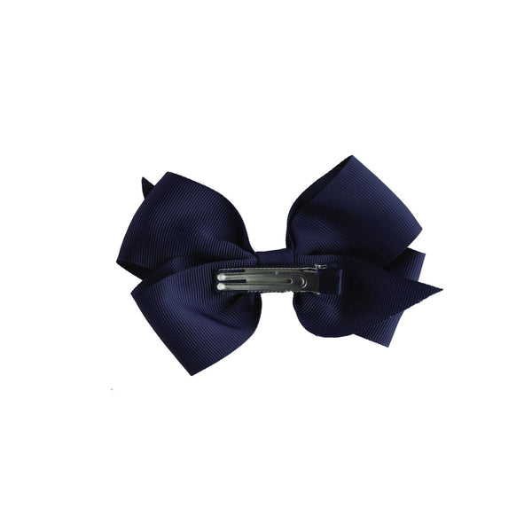 Navy Grosgrain Ribbon Hairbow